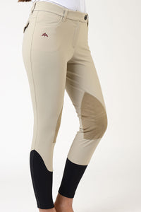 Ladies breeches | lady breeches | equestrian | riding breeches | clothing | alcantara grip | model AUDREY | Makebe | made in Italy | comfort of movement | grip | technical materials | black |
