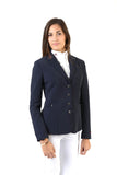 Lady horse riding jacket | model CINDY | tech fabric | technical materials | technical fabric | riding | equestrian | Makebe | Made in Italy | clothing | jacket | riding jacket | free movememt system | comfort | comfort of movements | elastic materials | riding elastic jacket | elegance | blue |