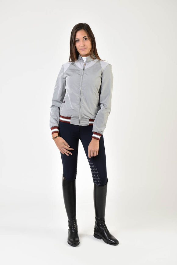 Ladies bomber | lady bomber | model LUCY | clothing | Makebe | equestrian | leisure time | grey