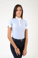 Load image into Gallery viewer, polo shirt | technical fabric | cotton | technical materials | light blue