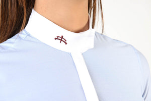 polo shirt | technical fabric | cotton | technical materials | light blue