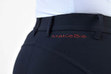 Ladies breeches | lady breeches | equestrian | riding breeches | clothing | grip | model JESSICA | Makebe | made in Italy | comfort of movement | gel grip | technical materials | jump | jumping | blue |