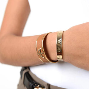 Temple brass bangle | bangle | brass | fashion accessories | Makebe | bracelet | riding | equestrian | made in Italy | handmade |