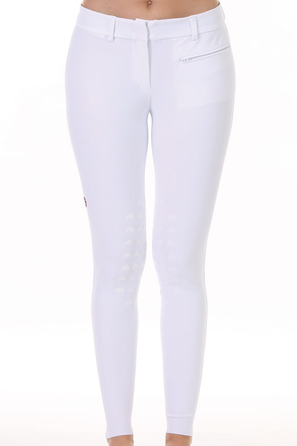 Ladies breeches | lady breeches | equestrian | riding breeches | clothing | grip | model PENELOPE | Makebe | made in Italy | comfort of movement | gel grip | technical materials | jump | jumping | middle waist | white |