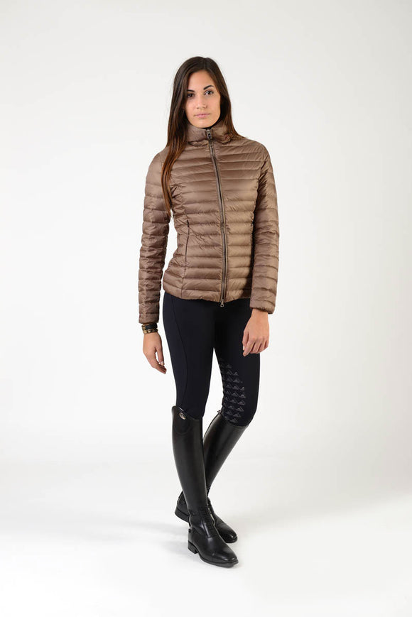 down lady jacket | winter jacket | chocolate