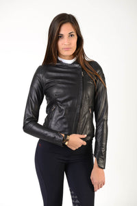 Ladies jacket | lady jacket | Black Leather | model Nike | Makebe | clothing | equestrian | leisure time | leather jacket | black jacket | black lady jacket | black lady leather jacket |