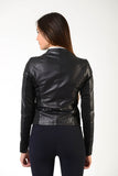 Ladies jacket | lady jacket | Black Leather | model Nike | Makebe | clothing | equestrian | leisure time | leather jacket | black jacket | black lady jacket | black lady leather jacket