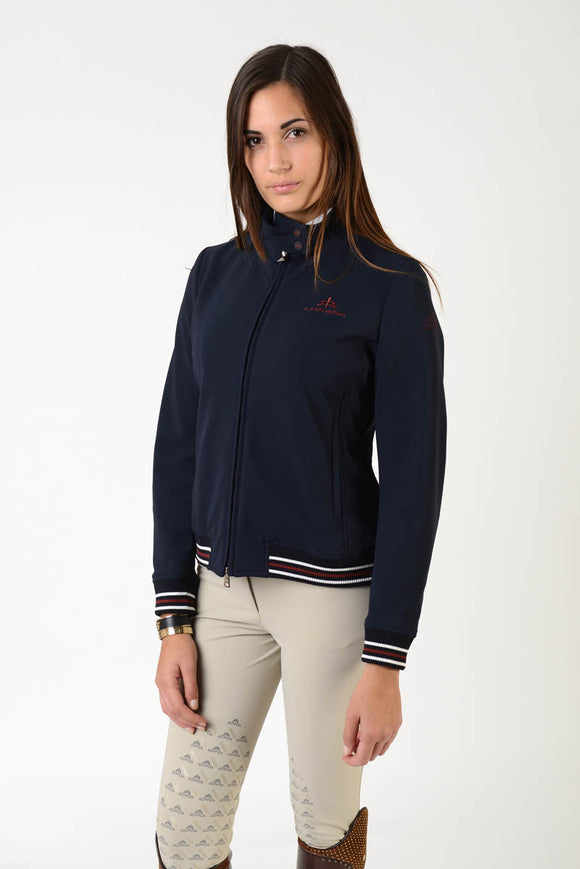 Ladies bomber | lady bomber | model ELENA | clothing | Makebe | equestrian | leisure time | blue