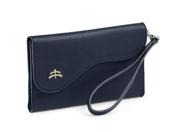 BB leather clutch for wrist and belt
