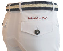Load image into Gallery viewer, Men riding breeches | alcantara grip | model COSIMO | equestrian | riding breeches | clothing | Makebe | made in Italy | comfort of movement | grip | technical materials | white |