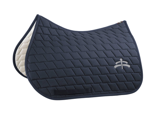 Jump carded saddle pad with Makebe logo