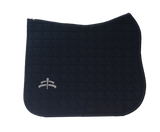 Carded saddle pad with Makebe Logo | DRESSAGE version | blue | stable