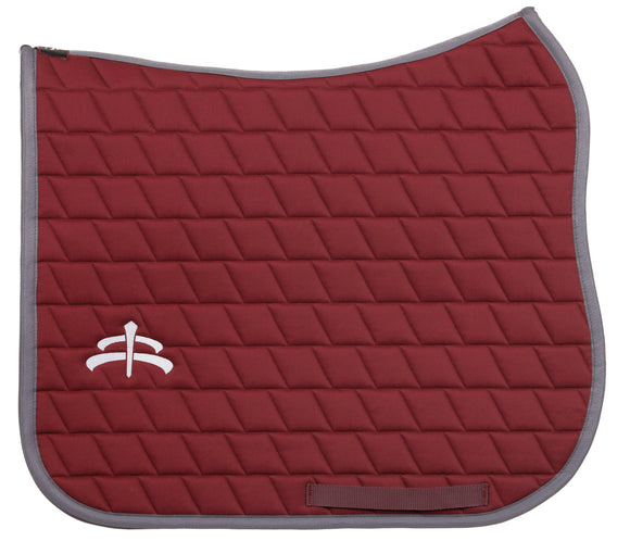 Carded saddle pad with Makebe Logo | 900 gr | DRESSAGE version | Bordeaux | stable