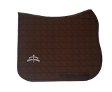 Carded saddle pad with Makebe Logo | DRESSAGE version | brown | stable