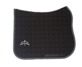 Carded saddle pad with Makebe Logo | DRESSAGE version | grey | stable
