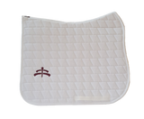 Carded saddle pad with Makebe Logo | DRESSAGE version | white | stable