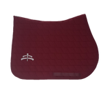 Jump carded | Makebe logo | saddle pad | saddlepad | Makebe | Stable | made in Italy | equestrian | bordeaux