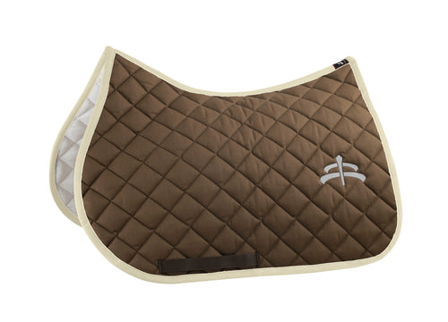 Jump wadded saddle pad with Makebe logo