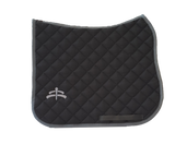 Wadded saddle pad | Makebe Logo | 450 gr | DRESSAGE version | grey | grey ribbon