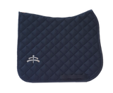 Wadded saddle pad | Makebe Logo | 450 gr | DRESSAGE version | blue | blue ribbon