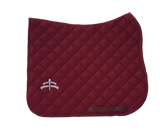 Wadded saddle pad | Makebe Logo | 450 gr | DRESSAGE version | bordeaux | bordeaux ribbon