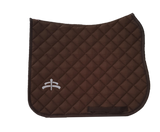 Wadded saddle pad | Makebe Logo | 450 gr | DRESSAGE version | brown | brown ribbon