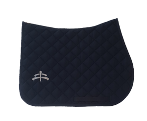 Jump wadded | Makebe logo | saddle pad | saddlepad | Makebe | Stable | made in Italy | equestrian | white