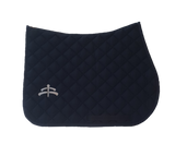 Jump wadded | Makebe logo | saddle pad | saddlepad | Makebe | Stable | made in Italy | equestrian | blue