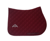Jump wadded | Makebe logo | saddle pad | saddlepad | Makebe | Stable | made in Italy | equestrian | bordeaux