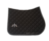 Jump wadded | Makebe logo | saddle pad | saddlepad | Makebe | Stable | made in Italy | equestrian | grey
