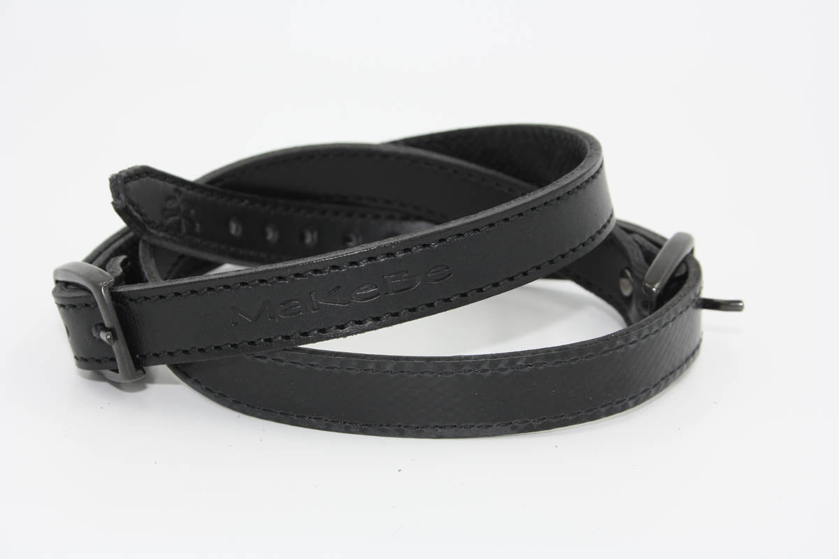 Spur Leather Strap | spur | made in Italy | Makebe | technical | unisex | agility fit | strap | spur strap | horse | riding | equestrian | leather | no-slip rubber | no- slip | no slip | rubber | black |