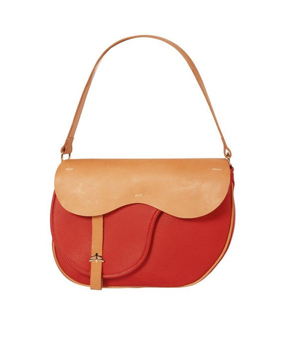 Leather bag | Made in Italy | leather accessories | Red leather bag