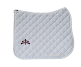 Wadded saddle pad | Makebe Logo | 450 gr | DRESSAGE version | white | white ribbon