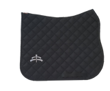 Wadded saddle pad | Makebe Logo | 450 gr | DRESSAGE version | black | black ribbon