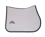 Jump carded | Makebe logo | saddle pad | saddlepad | Makebe | Stable | made in Italy | equestrian | white