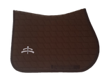 Jump carded | Makebe logo | saddle pad | saddlepad | Makebe | Stable | made in Italy | equestrian | brown