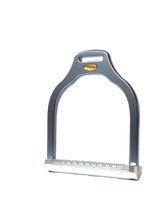 Load image into Gallery viewer, Jump stirrup | wave shape | Makebe | Technical | equestrian | riding | aluminum | inclined bench | easy to clean | innovative grip | Made in Italy | many colors | comfortable | comfort | anodic oxidation | titanium