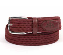 Load image into Gallery viewer, unisex elastic BELT | elastic belt | elasticated | fashion accessories | belts | belt | Makebe | Made in Italy | elegance | accessories | clothing | bordeaux |