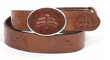 WYATT | unisex leather belt | leather belt | silver buckle | fashion accessories | belts | belt | Makebe | Made in Italy | elegance | accessories | clothing | brandy |