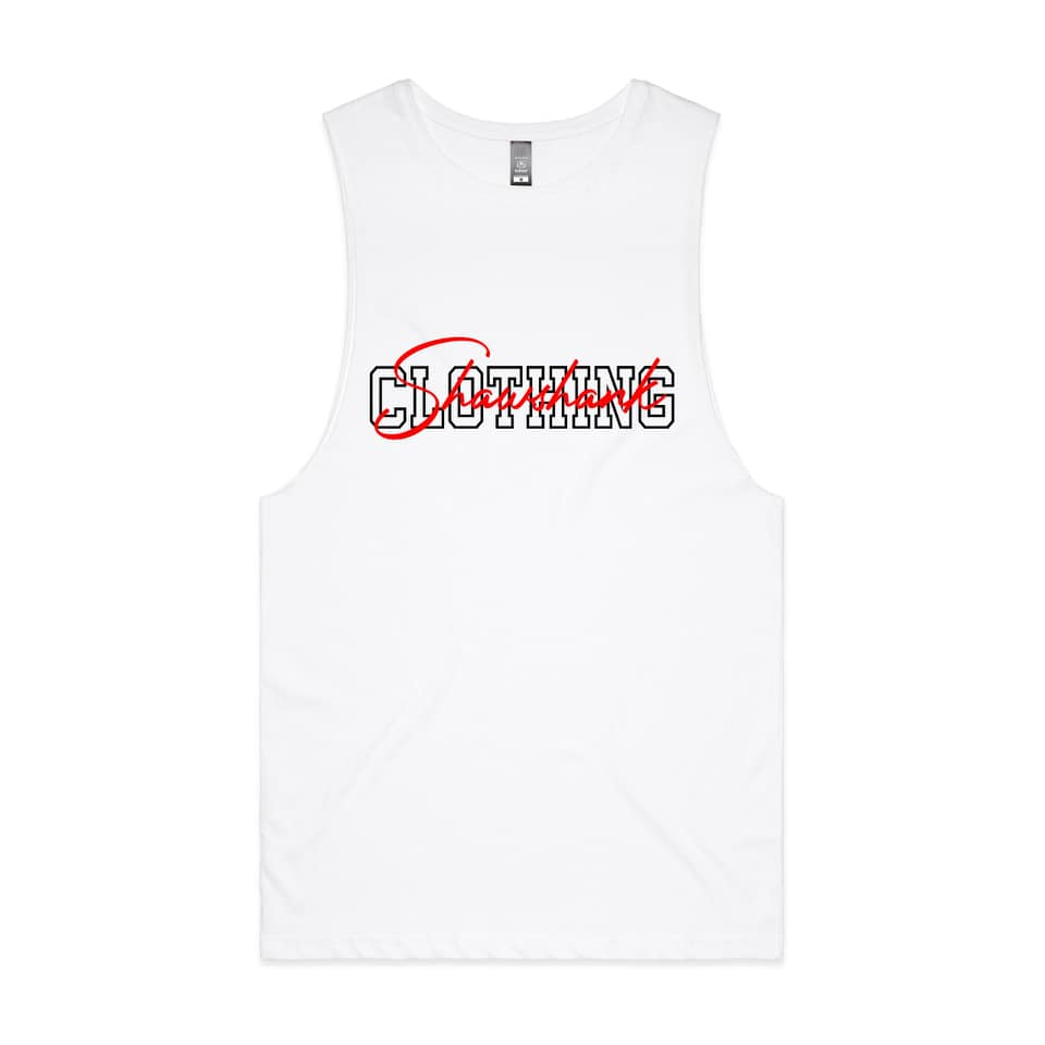 "'MEN'S ''EMBROIDED SIIGNATURE'' Sleeveless Tank Top""."