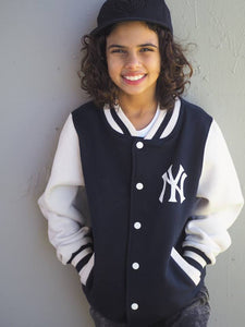 KJ02- KIDS NY COLLEGE VARSITY JACKET - Shawshank Clothing
