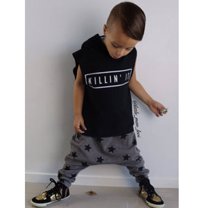 KILLIN'IT SLEEVELESS HOODIE - Shawshank clothing