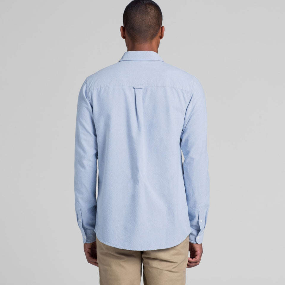 MS01- MENS OXFORD LONG SLEEVE SHIRT - Shawshank Clothing