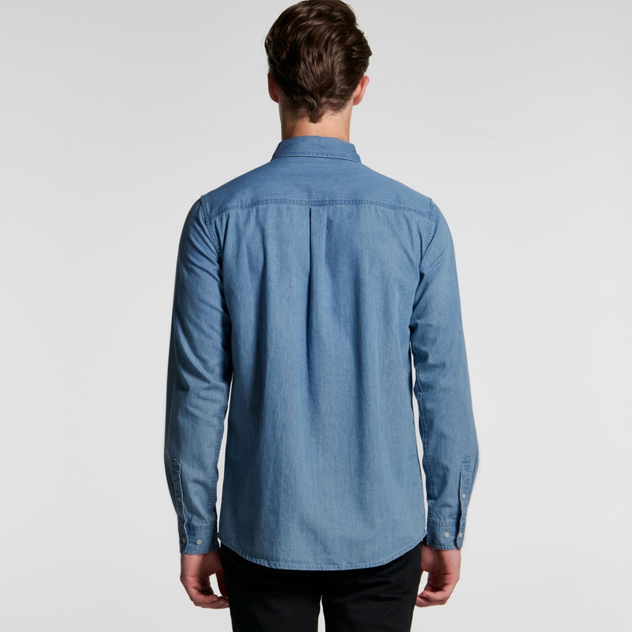 MENS BLUE DENIM SHIRT - Shawshank Clothing