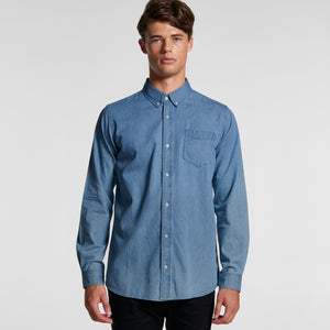 MS02- MENS BLUE DENIM SHIRT - Shawshank Clothing