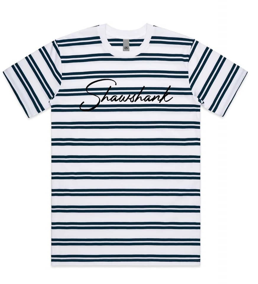 MENS CLASSIC STRIPE 3D SIGNATURE TEE - Shawshank Clothing