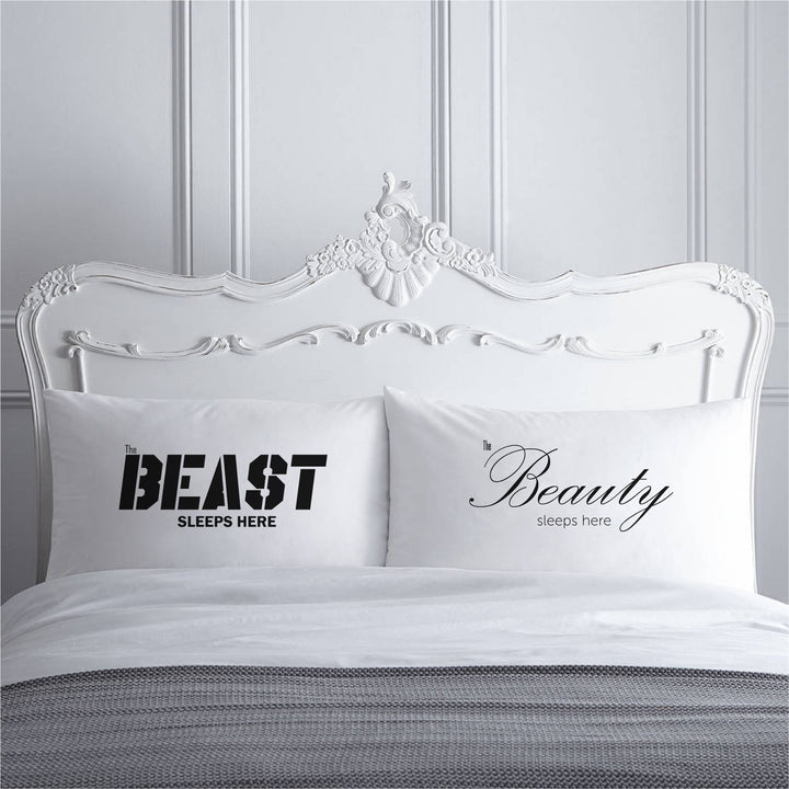 PS06- BEAUTY & THE BEAST PILLOW CASES - Shawshank Clothing