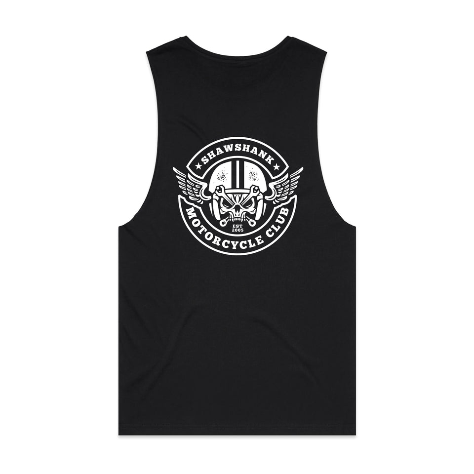 "MEN'S ''SKULL MOTORCYCLE CLUB'' Sleeveless Tank Top""."