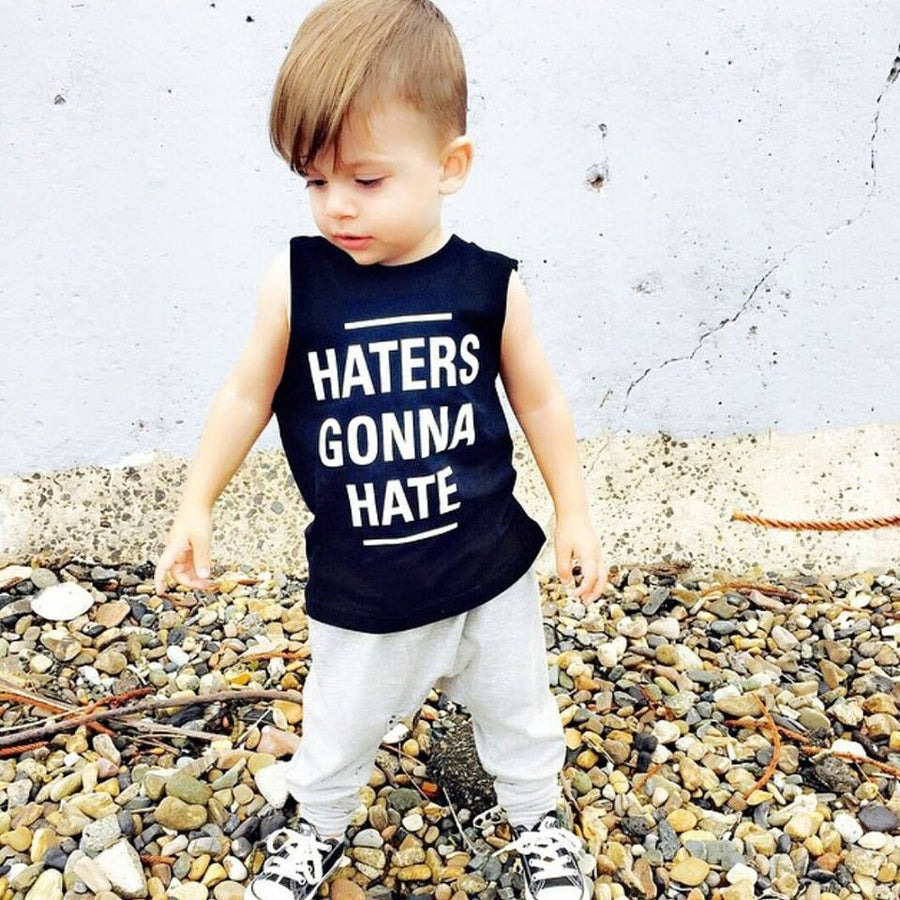 KT12- HATERS GONNA HATE I KIDS TSHIRT TANK - Shawshank Clothing
