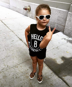 KT01- HELLO BROOKLYN-KIDS TSHIRT / TANK - Shawshank Clothing